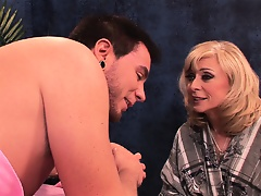 Nina Hartley seduces a client